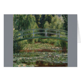 Japanese Footbridge and Water Lily Pool by Monet Stationery Note Card
