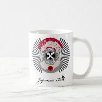 japan, japanese, fan, graphic, illustration, design, cool, art, kyoto, blossam, tokyo, asia, oriental, Mug with custom graphic design