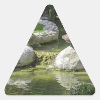 Japanese Garden 1 Triangle Sticker