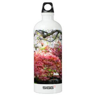 Japanese Garden Aluminum Water Bottle