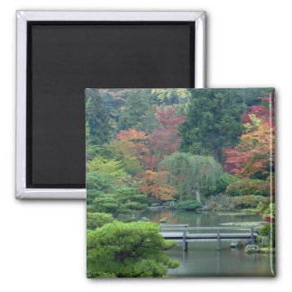 Japanese Garden at the Washington Park 2 Inch Square Magnet