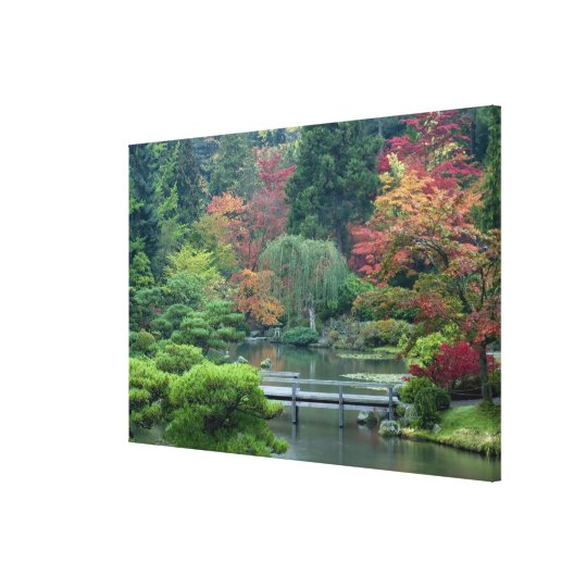 Japanese Garden at the Washington Park Canvas Print