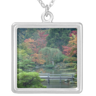 Japanese Garden at the Washington Park Silver Plated Necklace
