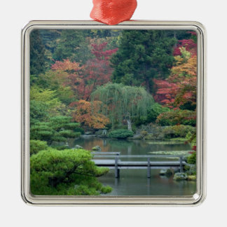 Japanese Garden at the Washington Park Square Metal Christmas Ornament