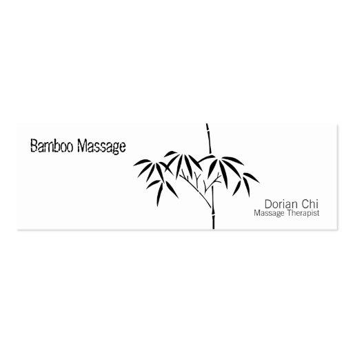 Japanese Garden Bamboo Business Card Templates