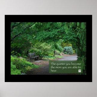 Japanese Garden Bench Poster