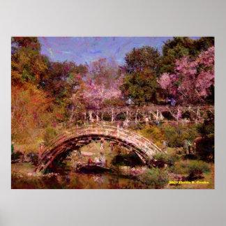 Japanese Garden Bridge Print