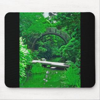 Japanese Garden Bridges photo painting mousepad