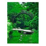 Japanese Garden Bridges photo painting postcard