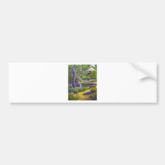 Japanese Garden Bumper Sticker