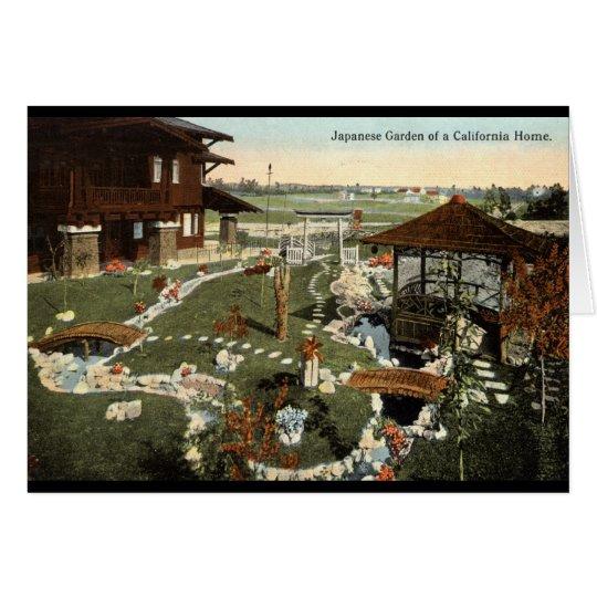 Japanese Garden California Home Repro Vintage 1917 Card