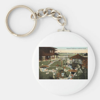 Japanese Garden California Home Repro Vintage 1917 Keychain