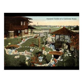 Japanese Garden California Home Repro Vintage 1917 Postcard