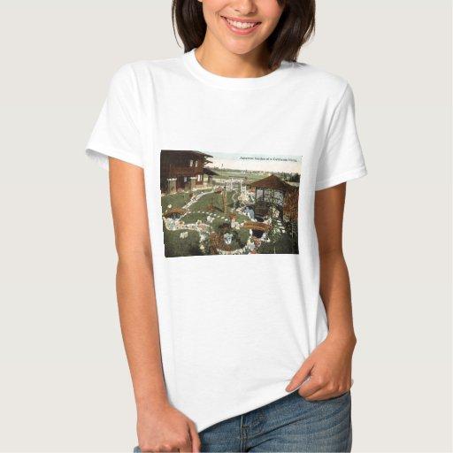 Japanese Garden California Home Repro Vintage 1917 Tshirt