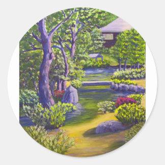 Japanese Garden Classic Round Sticker