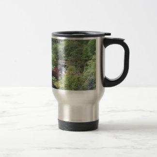Japanese Garden  Dog 15 Oz Stainless Steel Travel Mug