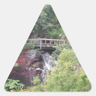 Japanese Garden  Dog Triangle Sticker