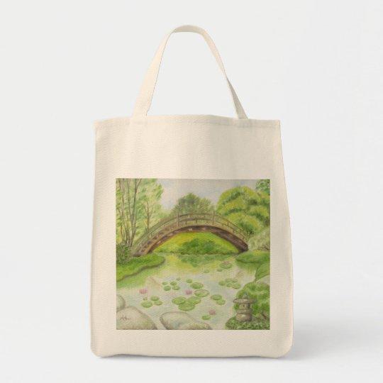 Japanese Garden grocery bag Zazzle