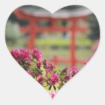 Japanese Garden Heart Stickers