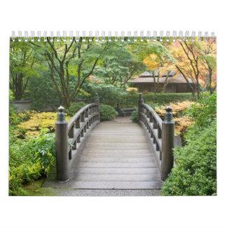 Japanese Garden in Autumn Calendar