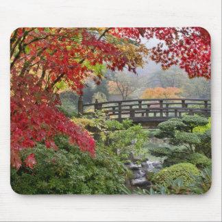 Japanese Garden in Fall Mousepad