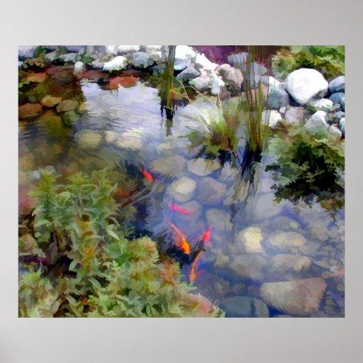 Japanese Garden Koi Pond Posters
