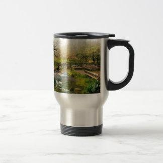 Japanese garden 15 oz stainless steel travel mug