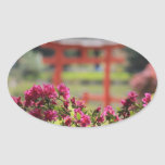 Japanese Garden Oval Stickers