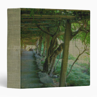 "Japanese Garden Path/Arbor (Textured) 1.5"" Binder"