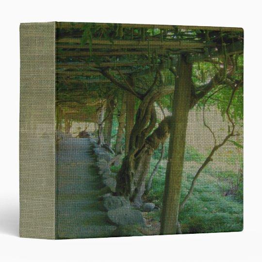 """Japanese Garden Path/Arbor (Textured) 1.5"""" Binder"""