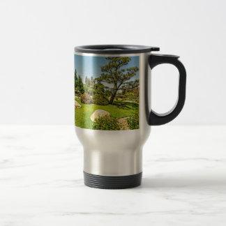 Japanese Garden Pine Tree 15 Oz Stainless Steel Travel Mug