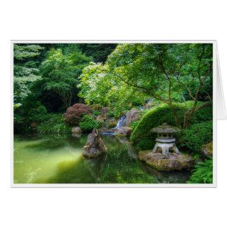 Japanese Garden Pond Greeting Card