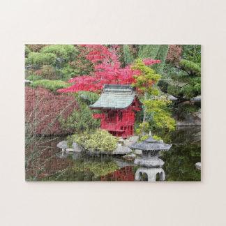 Japanese Garden Pond Photo Jigsaw Puzzle
