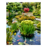 Japanese Garden Pond with Koi HDR july 10 Posters