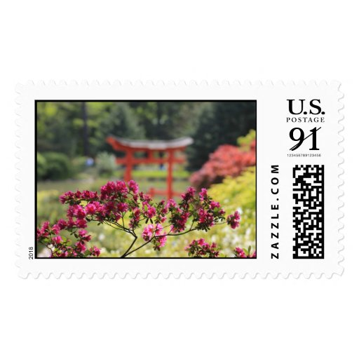 Japanese Garden Postage Stamps
