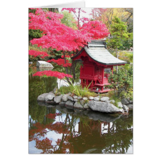 Japanese Garden Reflection Pond Photo Card