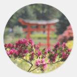 Japanese Garden Round Stickers