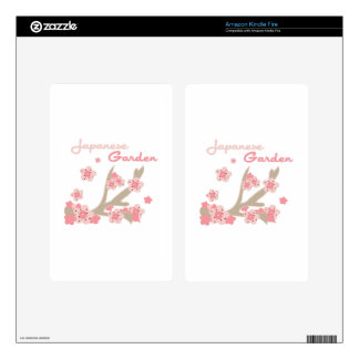 Japanese Garden Decals For Kindle Fire