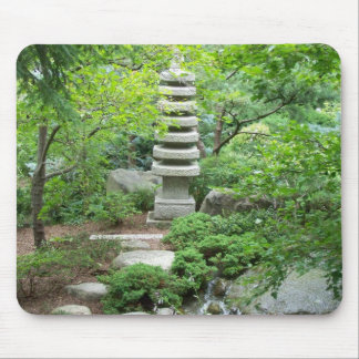 Japanese Garden Statue Mouse Pad