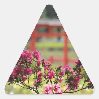 Japanese Garden Triangle Sticker