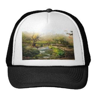 Japanese garden trucker hat