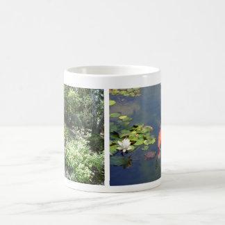 Japanese Garden Water Fountain Koi Lily Pond Mug