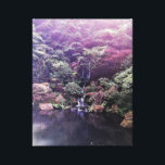 """Japanese Garden Waterfall Canvas Print<br><div class=""""desc"""">Caught the rays coming in through the trees over the waterfall.</div>"""