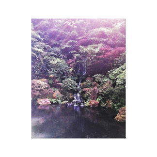 Japanese Garden Waterfall Canvas Print