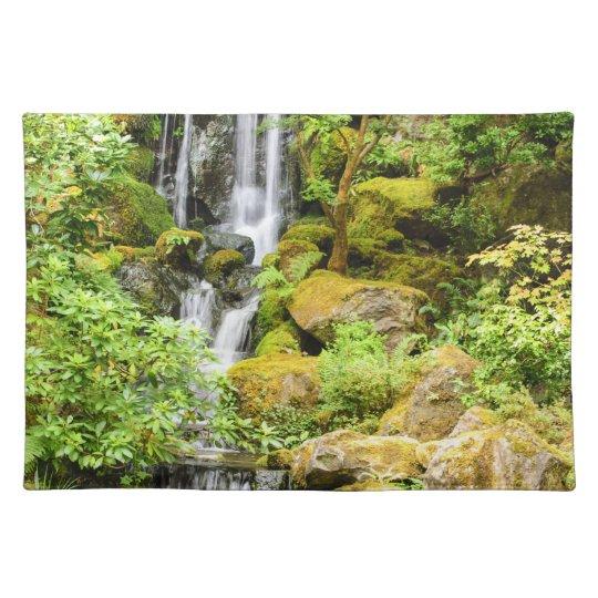 Japanese Garden Waterfall Cloth Placemat