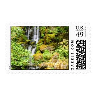 Japanese Garden Waterfall Postage