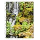 Japanese Garden Waterfall Spiral Notebook