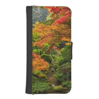 Japanese Gardens In Autumn In Portland, Oregon 2 Phone Wallets