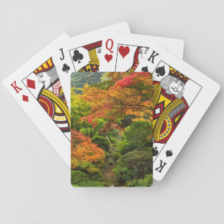 Japanese Gardens In Autumn In Portland, Oregon 2 Playing Cards