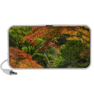 Japanese Gardens In Autumn In Portland, Oregon 2 Portable Speakers